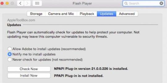 Flash Security on Safari