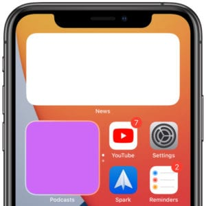 Missing widgets on iPhone Home screen