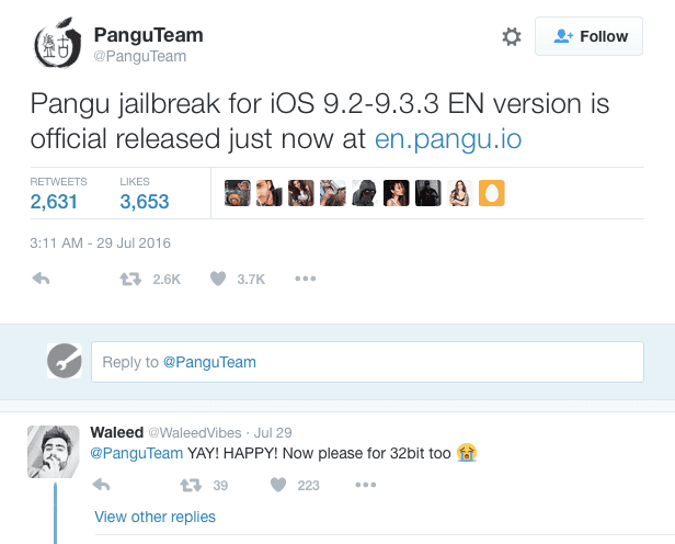 Pangu Official Twitter