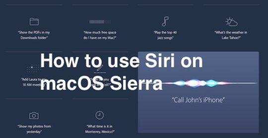 How to use Siri on macOS Sierra
