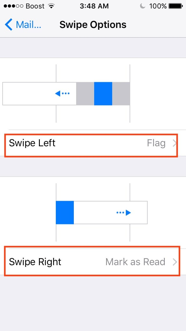 Customizing Your iOS Mail Gestures