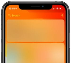 iPhone XS Widgets missing or not working