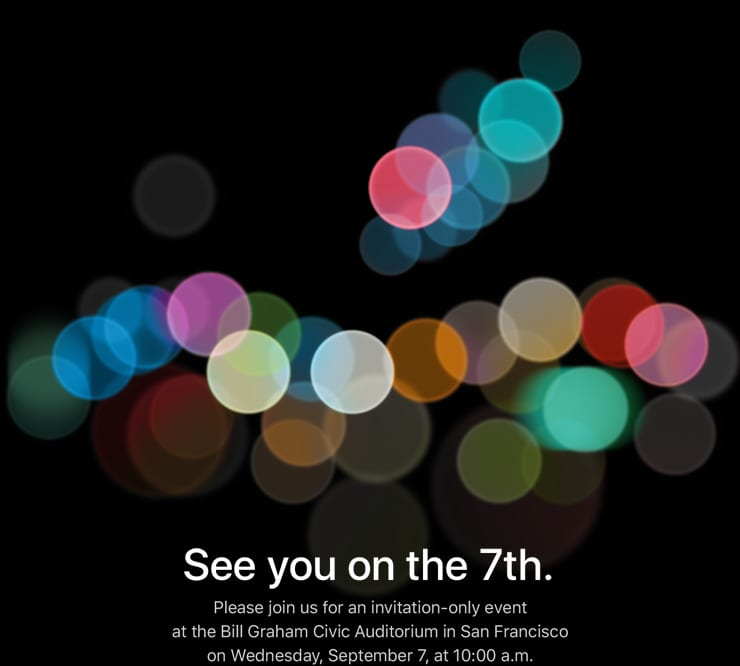 Apple announces Date for iPhone 7