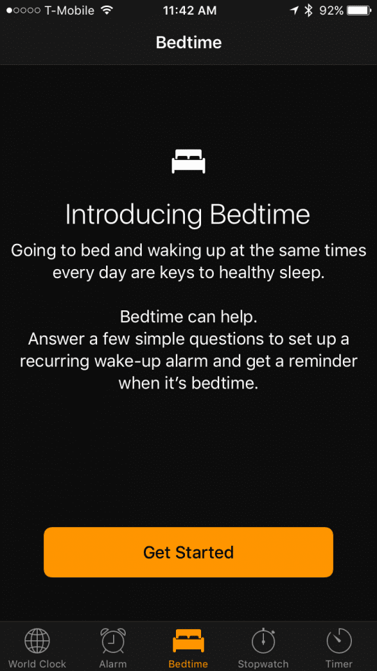 Use the Bedtime feature in iOS 10