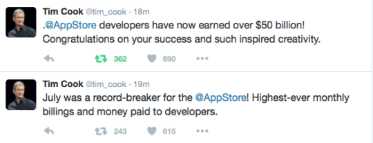 Record Appstore Revenues for Apple