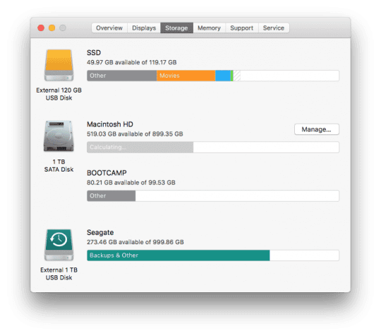 Storage Optimization in macOS Sierra