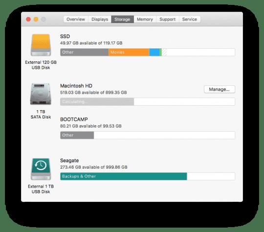 Storage Optimization in macOS Sierra
