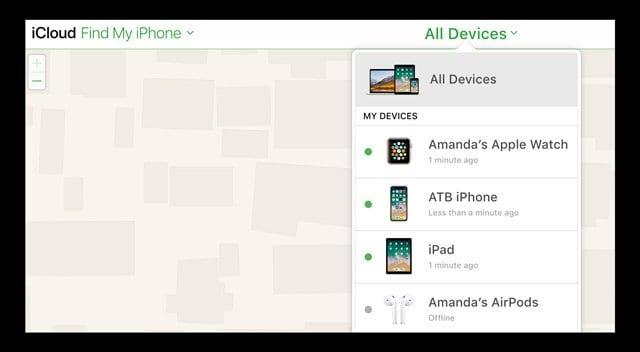 iCloud website Find My iPhone