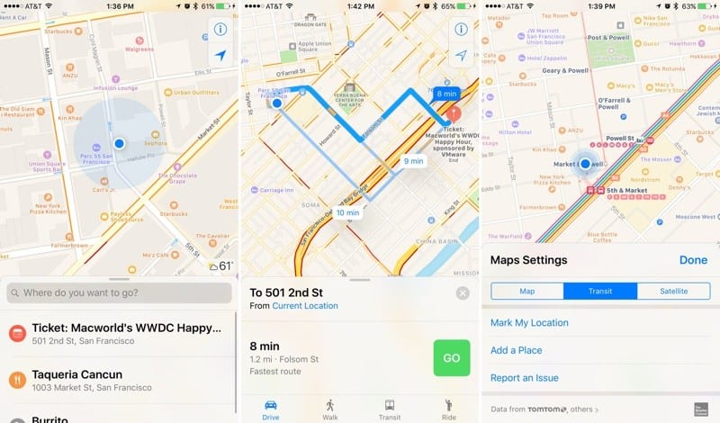 Apple Maps in iOS 10
