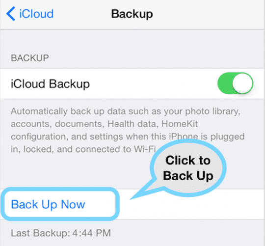 How-To Restore from an iCloud backup