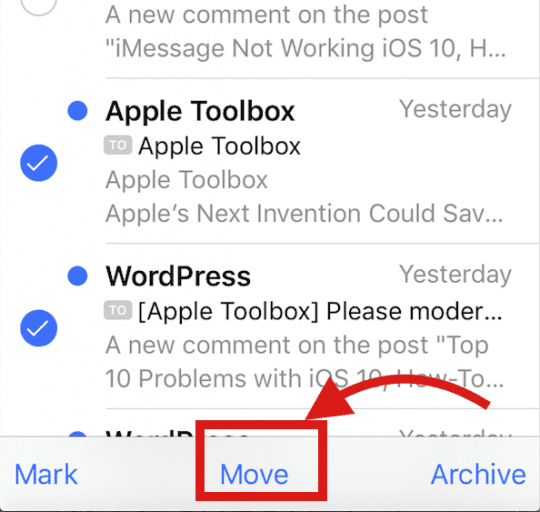 Deleting Multiple e-mails in iOS 10, how-To