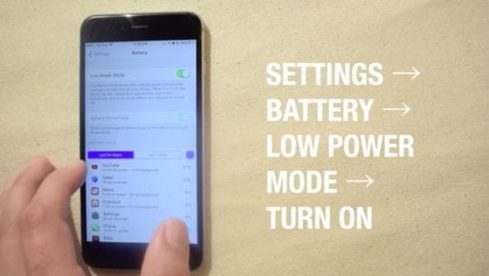 Enable Low Power Mode on iOS 10, Slow iPhone and battery Issues with iOS 10