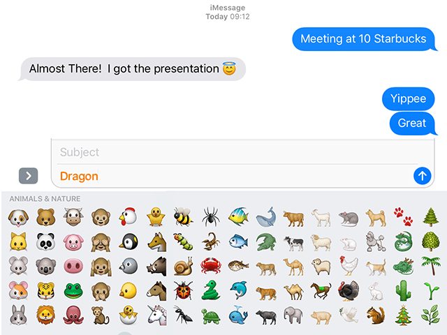 How to Fix iMessage and Message Problems in iOS 10_emoji