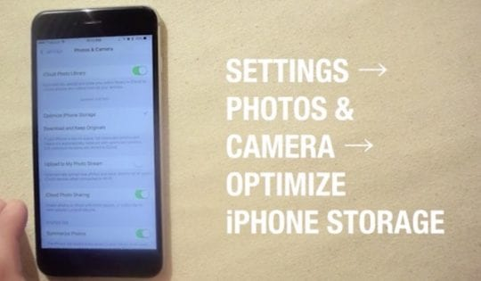 Optimize photo Storage iOS 10, Slow iPhone and battery Issues with iOS 10