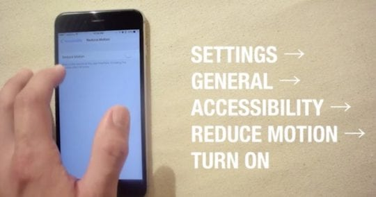 Reduce motion to boost iOS 10 performance, Slow iPhone and battery Issues with iOS 10