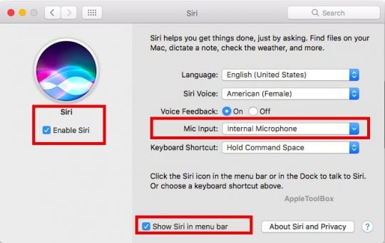 Siri Not Working in macOS Sierra, How-To-Fix