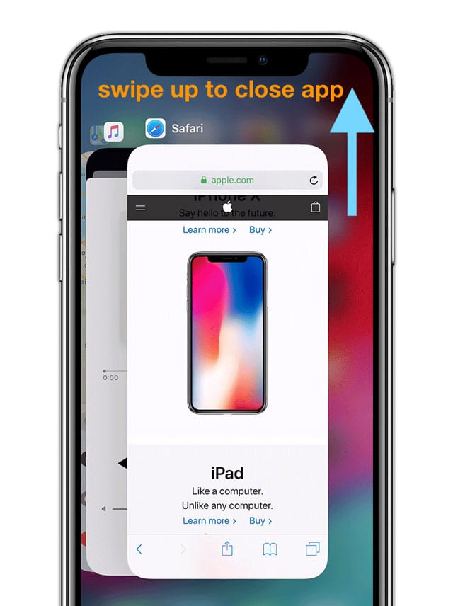 close app on iPhone iOS 12