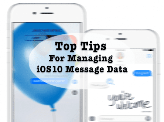 iphone storage full message iphone storage tips managing ios imessage data 15470