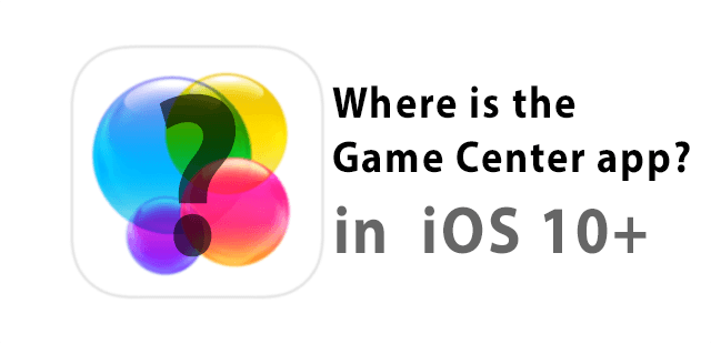Where is Game Center app? It's all about Messages and iCloud