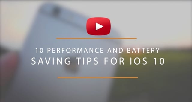 iOS 10 Speed up Performance and Save Battery on iPhone