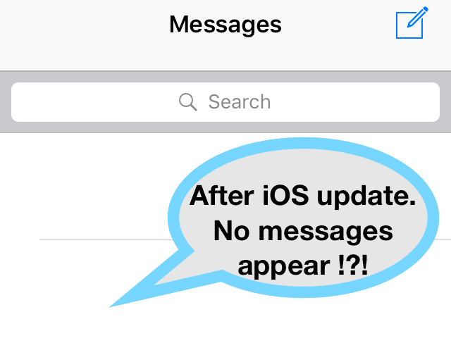 iPhone Texts Disappeared After iOS Update