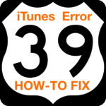 iTunes Error -39 When Updating iOS, How-To Fix