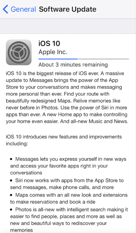iOS 10 Download Made available