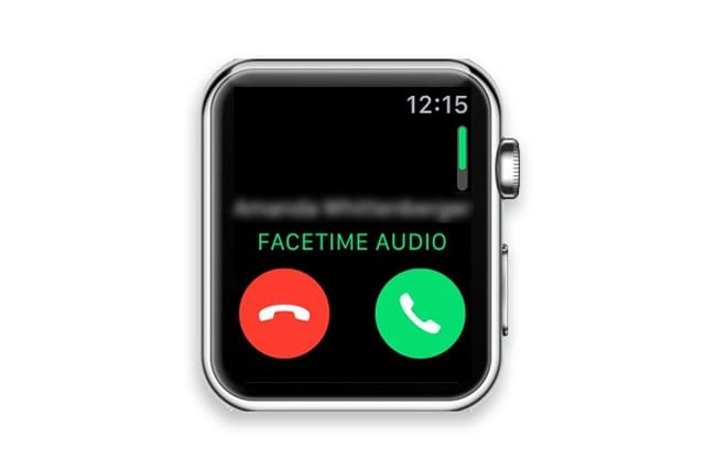 answer FaceTime call on apple watch