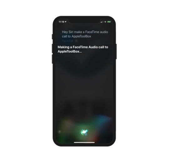 Siri FaceTime Audio Call on iPhone