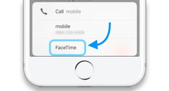 Contacts App Call Options iOS iPhone