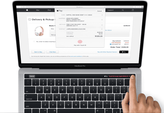 Magic Toolbar and Touch ID