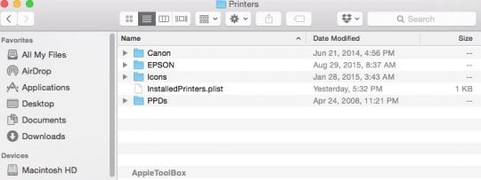 Cannot Print using macOS Sierra, How-To - AppleToolBox