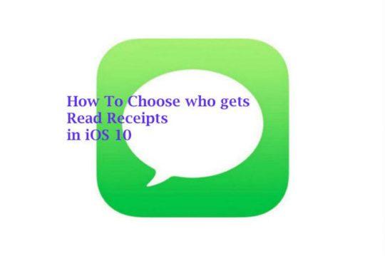 iOS10 Read Receipts Setup
