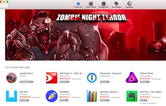 Mac App Store Blank