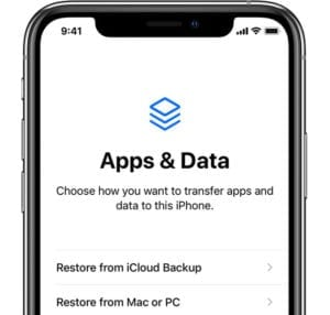 Restore from backup options when in recovery mode iPhone, iPad, iPod