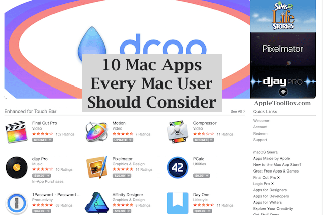 10 Mac Apps Every Mac User Should Consider