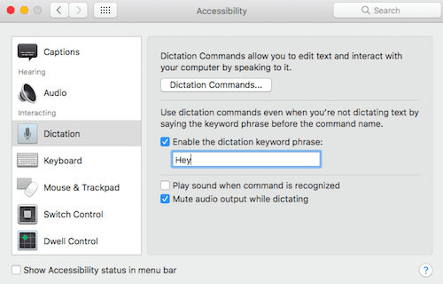 How to set up hey Siri on macbook