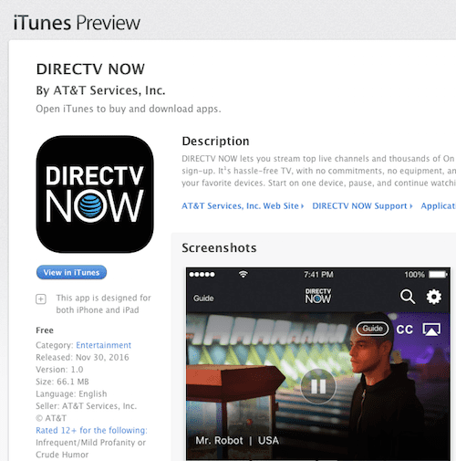 Direct now on Apple TV