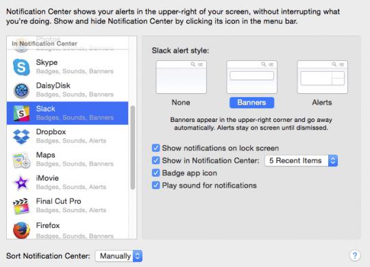 Macbook Notifications