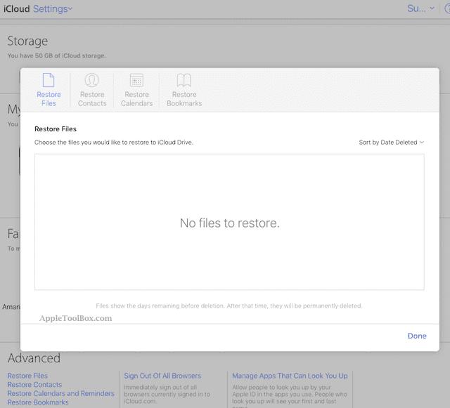Using iCloud.com