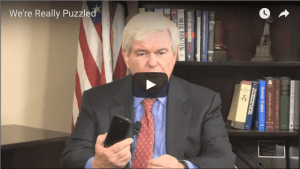 Gingrich is puzzled by smartphones.