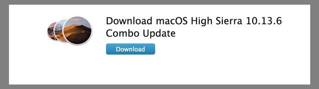 download combo update for high sierra macOS