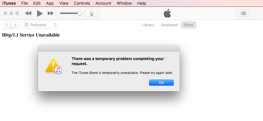 How to Fix http 11 error in itunes