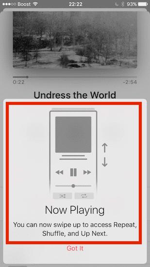 Apple Music App in iOS 10.2