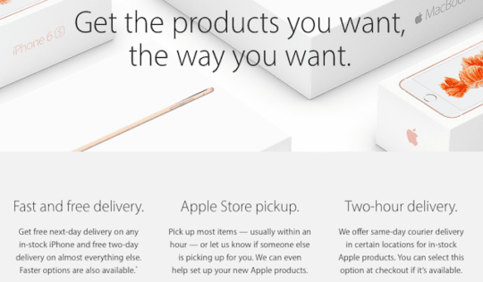 Apple Delivery Options