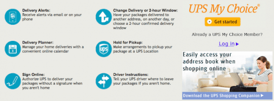 UPS Mychoice Feature