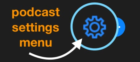 podcast settings menu in iTunes