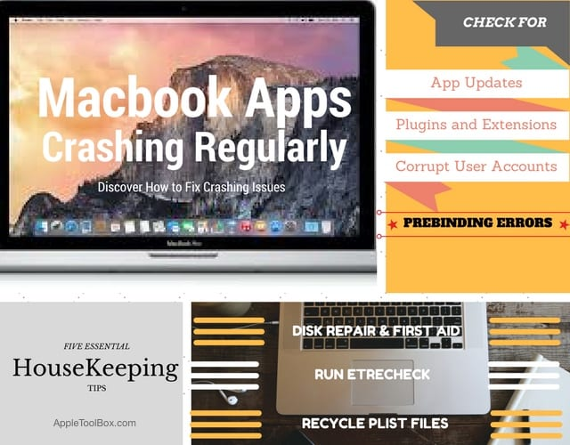 MacBook Apps Crashing, How-To