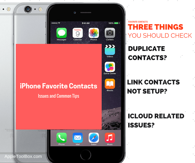iPhone Favorite Contacts Not Working, How-To - AppleToolBox