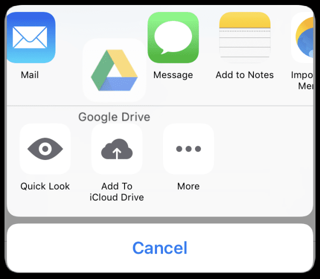 Customizing iOS Mail Attachment Options, Quick-Tip